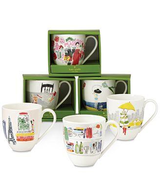 kate spade new york Illustrated Gifts Mug Collection
