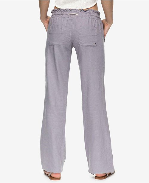 e22070cf1b Roxy Juniors' Oceanside Wide-Leg Drawstring Pants & Reviews ...
