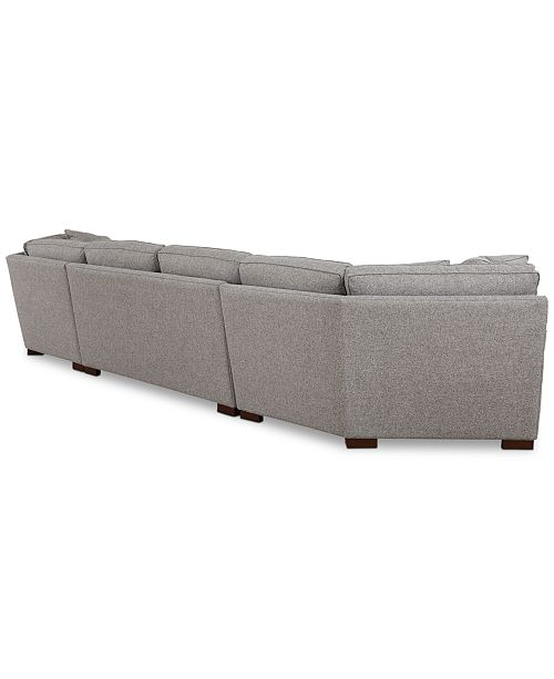 Furniture Carena 3-Pc. Fabric Sectional with Apartment ...