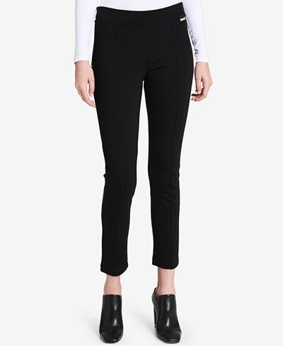 Calvin Klein Velvet-Trim Leggings