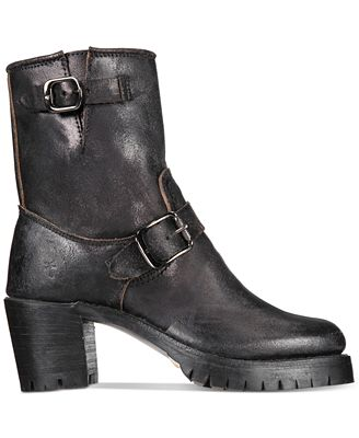 Frye Women's Sabrina Moto Engineer Boots Women's Shoes