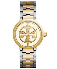 Tory Burch Women's Reva Two-Tone Stainless Steel Bracelet Watch  36mm