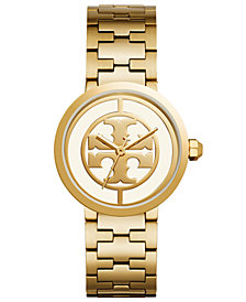 Tory Burch Women's Reva Gold-Tone Stainless Steel Bracelet Watch 36mm