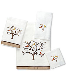 Avanti Friendly Gathering Cotton Embroidered Bath Towel Collection