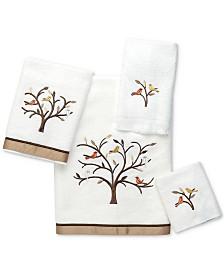 Avanti Friendly Gathering Cotton Embroidered Washcloth