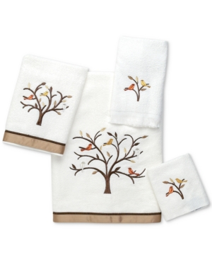 Avanti Friendly Gathering Cotton Embroidered Hand Towel Bedding
