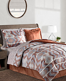 CLOSEOUT! Pueblo 8-Pc. Reversible Bedding Ensembles