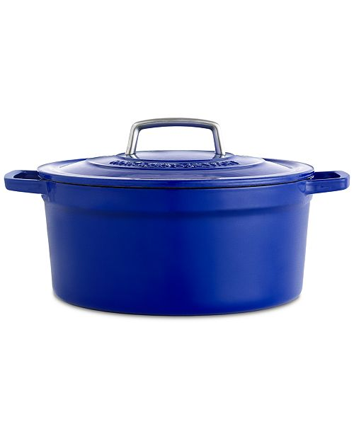 CLOSEOUT! Collector's Enameled Cast Iron 8 Qt. Round Dutch Oven, Created for Macy's