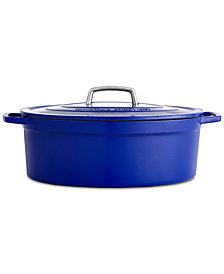 Martha Stewart Collection Collector's Enameled Cast Iron 8 Qt. Oval Dutch Oven, Created for Macy's