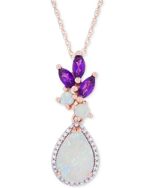 268792f069b Macy's Opal (1-1/10 ct. t.w.), Amethyst (1. Macy's / Jewelry & Watches /  Necklaces