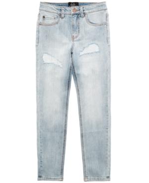 Jaywalker Deconstructed Rip  Repair Jeans Big Boys (820)