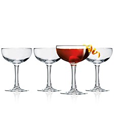 Coupe 4-Pc. Cocktail Glass Set