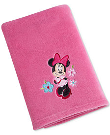 Disney Minnie Mouse Hello Gorgeous Embroidered Appliqué Plush Blanket