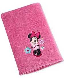 Disney Minnie Mouse Hello Gorgeous Embroidered Appliqué Plush Blanket