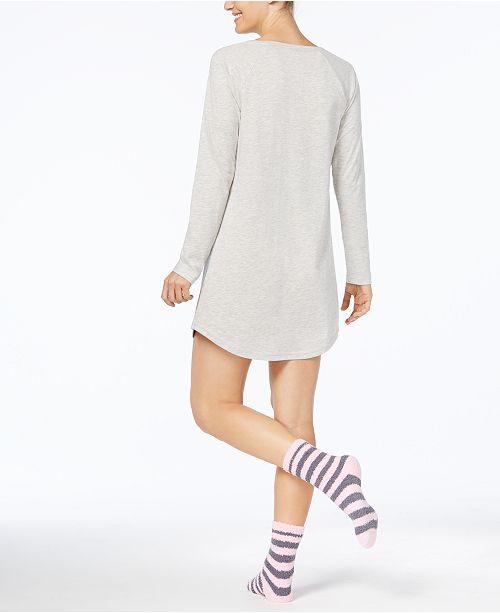 9da475528 Jenni by Jennifer Moore Graphic Sleepshirt and Socks Set
