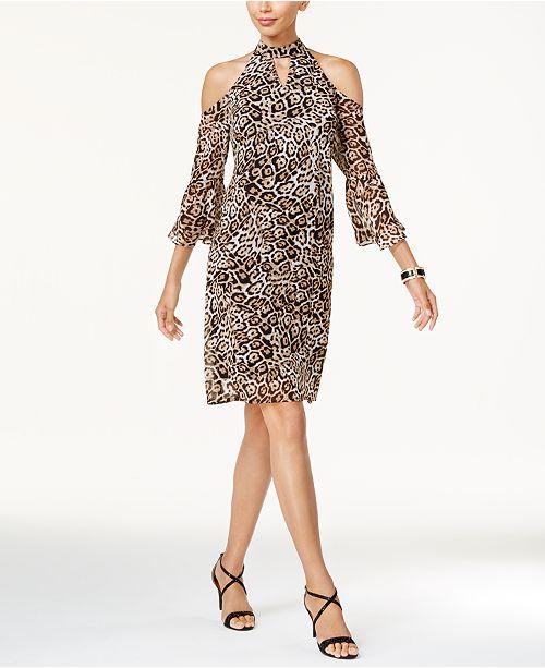 bb06899121db ... Thalia Sodi Cold-Shoulder Shift Dress