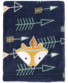 Little Love by NoJo Arrow-Print Embroidered Appliqué Plush Blanket