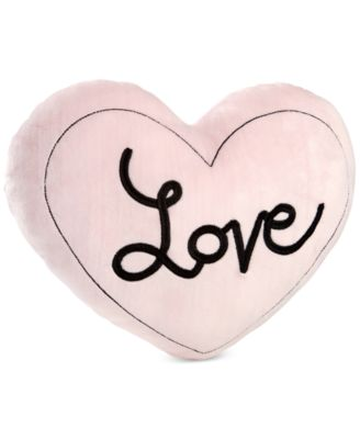Little Love by Hugs & Kisses Embroidered Heart Velboa Decorative Pillow