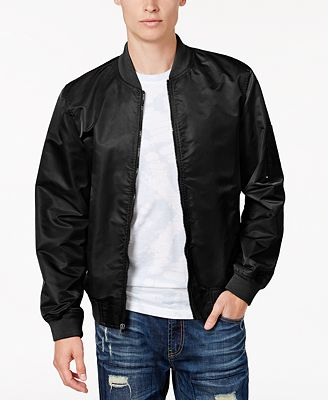 American Rag Men's Nylon Bomber Jacket, Created for Macy's - Coats ...
