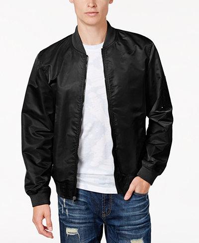 American Rag Men's Nylon Bomber Jacket, Created for Macy's - Coats ...