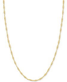 "24"" Singapore Chain Necklace (7/8mm) in 14k Gold"