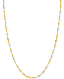 "24"" Singapore Chain Necklace in 14k Gold"