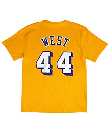 Men's Jerry West Los Angeles Lakers Hardwood Classic Player T-Shirt