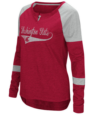 Colosseum Women's Washington State Cougars Routine Long Sleeve T-Shirt
