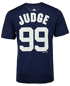 Majestic Men's Aaron Judge New York Yankees Cool Base Name and Number T-Shirt
