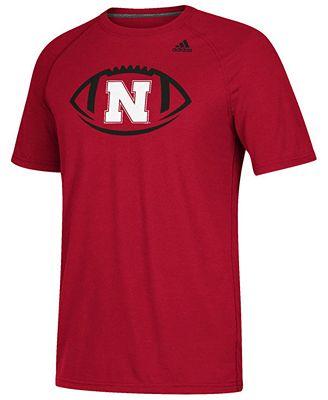 adidas Men's Nebraska Cornhuskers Pigskin T-Shirt