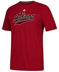 adidas Men's Indiana Hoosiers White Noise Logo T-Shirt