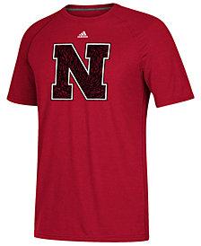 adidas Men's Nebraska Cornhuskers White Noise Logo T-Shirt