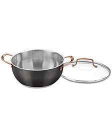 Onyx Black & Rose Gold 5.5-Qt. Multi-Purpose Pot with Cover, Created for Macy's