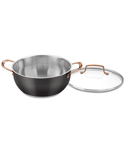 Cuisinart Onyx Black & Rose Gold 5.5-Qt. Multi-Purpose Pot with Cover, Created for Macy's