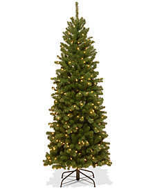 National Tree Company 6' North Valley Spruce Pencil Slim Tree With 250 Clear Lights