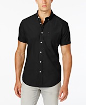 703e9701215 Tommy Hilfiger Big   Tall Men's Maxwell Short-Sleeve Button-Down Shirt