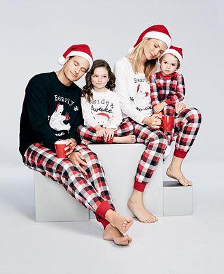 Family Pajamas Buffalo Plaid Bearly Awake Pajamas, Created for Macy's