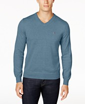 b349247d080 Tommy Hilfiger Men's Signature Solid V-Neck Sweater, Created for Macy's