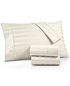 Bergen Stripe 4-Pc. Queen Sheet Set, 1000 Thread Count 100% Certified Egyptian Cotton