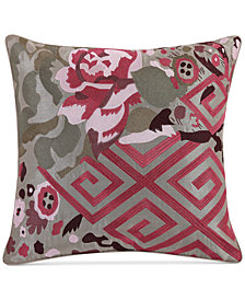 "CLOSEOUT! Tracy Porter Amelia Faux-Silk 16"" Square Decorative Pillow"