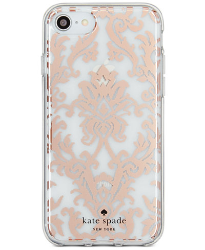 Kate Spade New York Rose Gold Tone Tapestry IPhone 8 Case