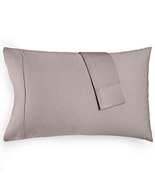 AQ Textiles Devon Standard Pillowcase Pair, 900 Thread Count, Created for Macy's