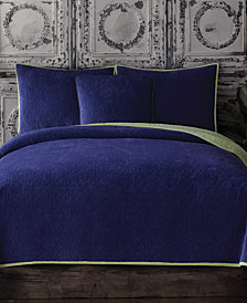 CLOSEOUT! Tracy Porter Reversible Velvet Quilted Full/Queen Coverlet