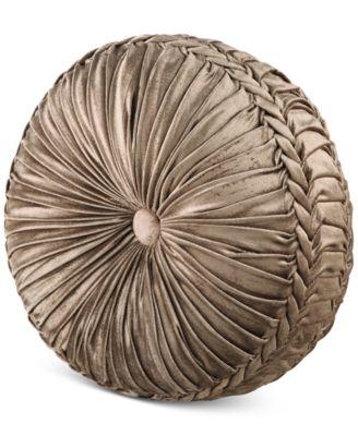 "Bradshaw Tufted 15"" x 2"" Round Decorative Pillow"