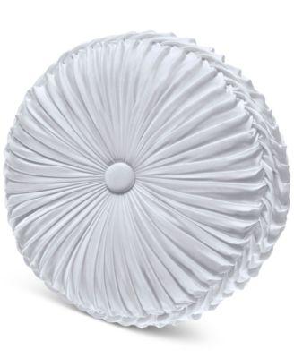 "Carmella Tufted 15"" x 2"" Round Decorative Pillow"