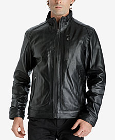 Michael Kors Men's Zip-Front Leather Jacket
