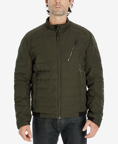Michael Kors Men's Big & Tall Quilted Moto Jacket - Coats ... : quilted moto jacket - Adamdwight.com