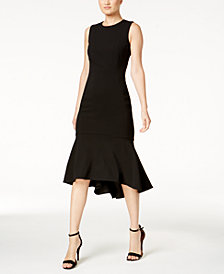 Calvin Klein Petite High-Low Midi Scuba Dress