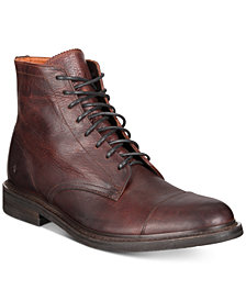 Frye Men's Seth Cap-Toe Lace-Up Boots Created for Macy's