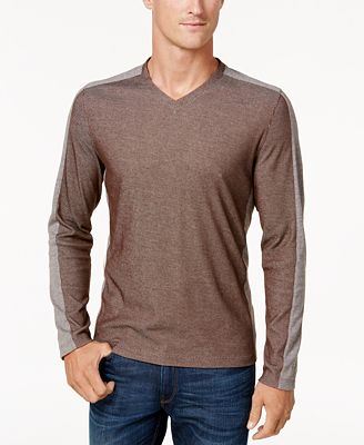 Alfani Men's Textured Long-Sleeve T-Shirt, Created for Macy's